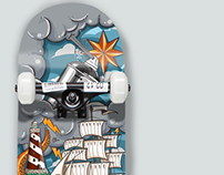 """SkateBoard Graphic """" The Old Sea"""""""