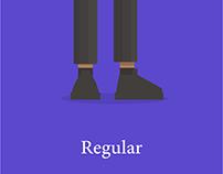 Regular, Italic, Bold