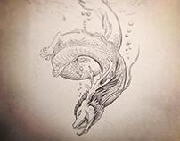 Inktober prompt ballpoint pen drawings