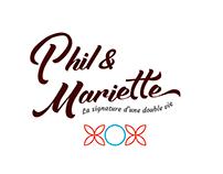 Phil & Mariette - Création de l'identité visuelle