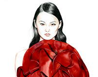 Couture fall 2018 fashion illustrations