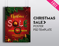 Free Christmas Sale Poster PSD Template