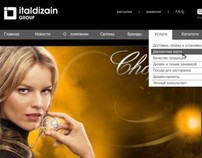 Web-site. Italdizain. Group of companies.