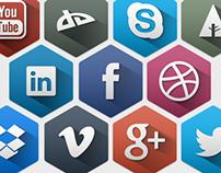 Hexagon Icons - Social