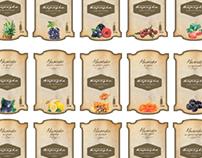 Этикетки для ресторана Березка
