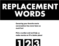 Replacement Words - interactive microsite