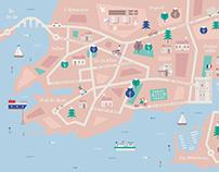 Carte de la ville de La Rochelle