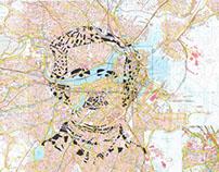 Human Cartography: Edgar Allan Poe / Boston / Paper Cut