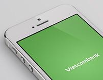 Vietcombank Mobile app concept.