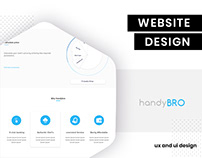 UI/UX Design for handyBro by brandzGarage