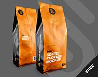 Free Coffee Package Mockup