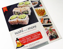 Sushi and more take-away Menu card design