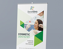 Dental Clinic - Roll Up Banner Design