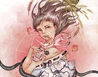 Viktor & Rolf Flowerbomb Illustration