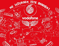 VODAFONE CAMPAIGN  ILLUSTRATION