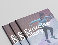 Exercise Diary, Layout Design.