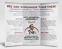 Atleo Campaign Pamphlet & Business Card