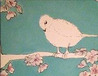 Acrylic  - bird