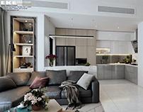 Thiết kế nội thất căn hộ chung cư River Park Premier Q7