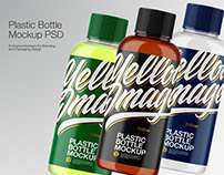 Transparent Plastic Bottle mock-up