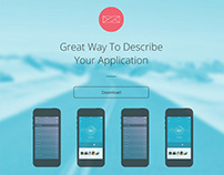 Infinity Mobile App Single Page Free Adobe Muse Templat