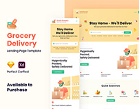 Grocery Delivery - Landing Page