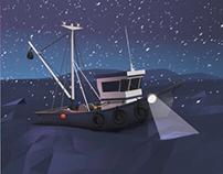 Lowpoly Fishing Boat