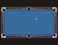2D realistic pool table design for flash game...