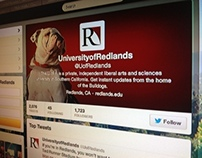 University of Redlands Twitter Profile Design