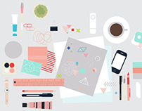 On the Desk Illustration