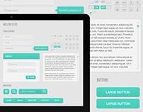 Mellow UI Kit - Free PSD Download