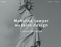 Mobirise lawyer website design - LawyerM4 theme