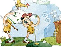 Golf - Watercolour Illustration