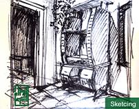 TV Set . Sketching & Modeling