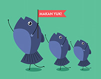 Illustrations for Minyak Goreng Ikan Dorang