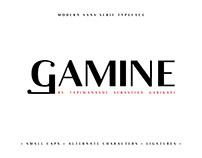 Gamine Typeface .Free Font.