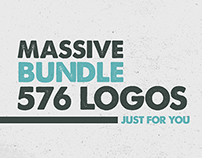 MASSIVE BUNDLE 576 Vintage Logos Labels and Badges