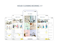 Online house cleaning booking app