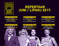 Youth Sarajevo Theater / Monthly Repertoire / June 2017