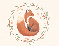 Raposa Fox - illustrated foxy logo
