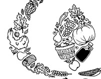 Fall Harvest Hand-Drawn T-Shirt Design