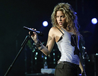 Peruvian street food in Shakira's concert