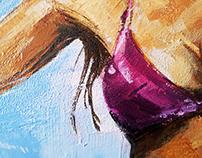 Surfer - Acrilic on Canvas 1,20x70cm