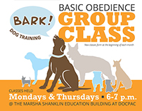 Bark! Dog Training flyer