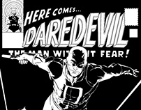 Daredevil Ink practice, pencils by Ruairí Coleman