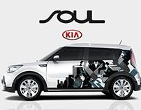 KIA Soul decal design
