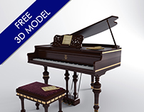 Free 3D model -Stainway & Sons Piano