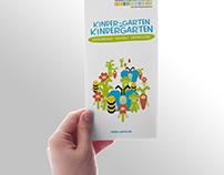 Flyer with Illustration - kinder-garten.de