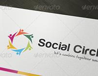 Social Circle Logo Template