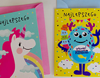 Birthday cards projects for Empik PL.